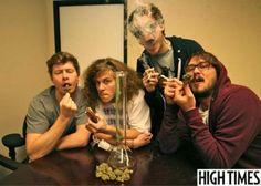 Look for the July 2012 issue of High Times magazine for a special interview with the guys of Mail Order Comedy.  I think they discuss campaign finance reform and their preferred cut of Blade Runner, among other topics, but there's no way to be sure until you check the mag yourself.