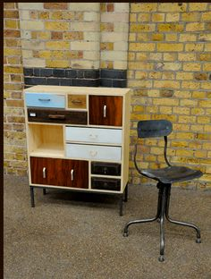 Upcycled Dresser, multiple wood textures