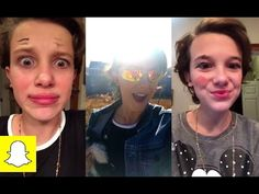Millie Bobby Brown make-up attempts by little sister + visiting the Walking Dead set - YouTube