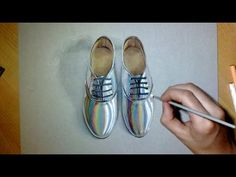 Drawing Crazy Shoes Hyperrealism art - YouTube