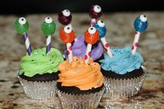 Baby Face and Little Monster Cupcakes with Cake Pops and Homemade Fondant | High Altitude Cupcakes
