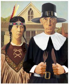 American Gothic Thanksgiving by Brandt Kofton (Brandtk)