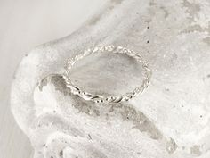 Sterling silver rope band ring - Braided band ring - Handmade wedding band ring - Silver rope ring - Beaded ring, Delicate silver ring by HopeADesign on Etsy Sterling Jewelry, Handmade Sterling Silver, Silver Jewelry, Silver Rings, Unique Jewelry, Silver Engagement Rings, Delicate Rings, Beaded Rings, Wedding Ring Bands