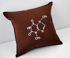 Chemistry Chocolate Molecular Structure Pillow From YellowBugBoutique $32.00