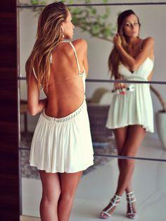 Vestido Decote Costas