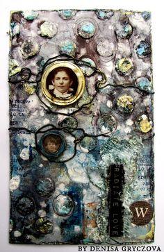 Denisa Gryczova: Radiate Love Medium Art, Mixed Media Art, City Photo, Inspirational, Tags, Mixed Media, Mailing Labels