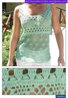 crochet chart § bella camicetta con schema §