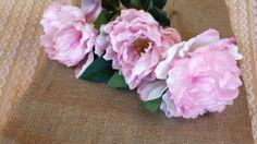 Lot of ten  Beautiful Silk Peony Roses  by MemoriesShoppe on Etsy, $9.25