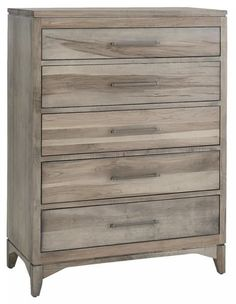 Amish Contemporary Canopy Five Drawer Chest Five drawers of contemporary style solid wood storage for master bedroom or guest suite. Customized and built in choice of wood and stain. #bedroomchest #amishfurniture