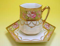Old Noritake demitasse cup and saucer