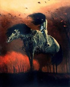 "the-nightmare-factory: "" Zdzislaw Beksinski - an incredibly talented surrealist painter; who, most surprisingly, had absolutely no formal training in art whatsoever. I adore his work - dark &. Arte Horror, Horror Art, Dark Fantasy Art, Art Sinistre, Art Noir, Inspiration Art, Creepy Art, Gothic Art, Art And Illustration"