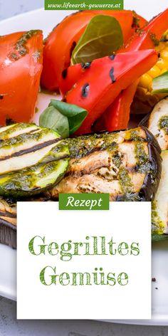 Vegetarisch grillen ist nicht nur kulinarisch ein Muss. Mit dem bunten Gemüse hat man auch gleich einen optischen Hingucker am Teller.