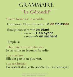Le Gérondif | Français Langue Étrangére FLE | Scoop.it