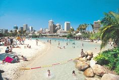 Brisbane's Southbank City Beach! And it'll be 80 degrees F this week! 24 more hours to the warm holiday I've been dreaming of for 7 months