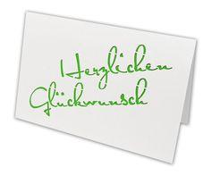 Doppelkarte Klappkarte mit Marienkäfer HERZLICHEN GLÜCKWUNSCH Glückwunschkarte