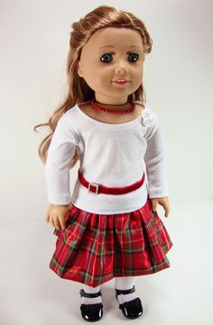 Let it Snow / Holiday Outfit for 18 inch dolls such as American Girl $35 LizzieBeeDesign on etsy