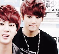 BTS | JUNG KOOK. Aww he's so cute. I love how they have the same hair color