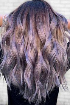Light Purple Hair, Lilac Hair, Hair Color Purple, Hair Dye Colors, Cool Hair Color, Purple Wig, Light Colored Hair, Blonde Hair With Purple Highlights, Silver Purple Hair