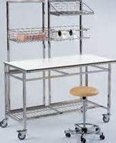 Mobilier en inox de péri-stérilisation pour la zone de conditionnement [Plusieurs références disponibles : nous consulter : 04 99 52 62 32 - siege@steam.fr]