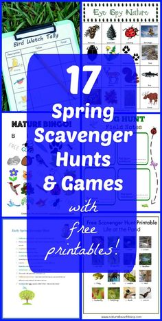 Collection of Spring Scavenger Hunts for kids all with FREE printables! Great way to inspire reading & explore the outdoors! Head outside to explore Spring with this HUGE group of scavenger hunt activities & games! Outdoor Games For Preschoolers, Group Games For Kids, Preschool Games, Games For Toddlers, Games For Teens, Kids Learning Activities, Spring Activities, Activity Games, Outdoor Activities