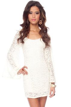Fleur de Lisa Dress in Ivory