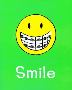 cute smiley with braces.