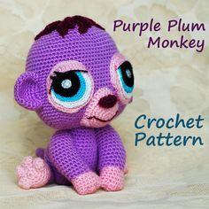 Crochet Pattern. Littlest Pet Shop Purple by InspiredCrochetToys