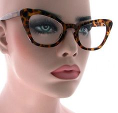 a960cfbcf1d  9.99 - Women Cat Eye Twirl Clear Lens Glasses Retro Classic Style Vintage  Frame  ebay