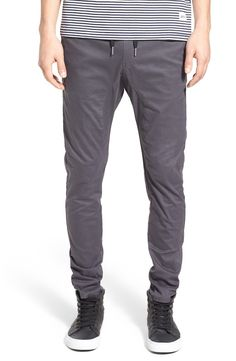 These trendy jogger pants pair easily with sneakers and a t-shirt for a stylish, go-to outfit.