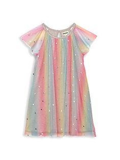 Buy Hatley Pink Metallic Hearts Rainbow Tulle Dress from the Next UK online shop Cute Little Girls Outfits, Toddler Girl Outfits, Kids Outfits, Korean Fashion Dress, Fashion Dresses, New Baby Dress, Cute Dresses, Girls Dresses, Girl Dress Patterns