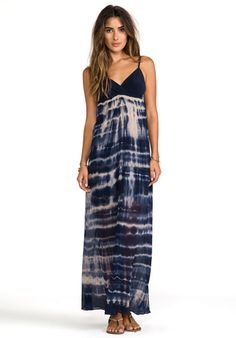 Gypsy 05 Silk Indigo Dyed Maxi Dress