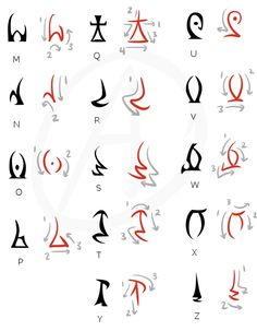 If you ever wanted to read / write Daedric, here you go. - Imgur