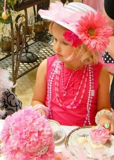 .there is nothing better than a tea party....so put on your beads, and hat, have grandma make you some tea and treats..and it is party time...