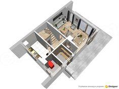 Projekt domu Malutki dr-S 79,48 m2 - koszt budowy 199 tys. zł - EXTRADOM Modern Barn House, Architect House, House In The Woods, Tiny House, Small Houses, House Plans, Backyard, House Design, Cabinet