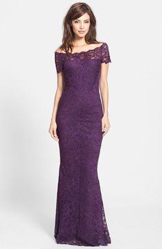Vestido de púrpura vestidos vestido noche vestido Miller por Nicole de largo encaje r5SrP
