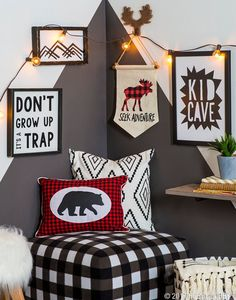 Couple fun patterns with woodland decor for a kid cave that really pops! 22 Outstanding Modern Decor Ideas You Will Definitely Want To Save – Couple fun patterns with woodland decor for a kid cave that really pops! Woodland Room, Woodland Decor, Woodland Party, Boys Room Decor, Kids Bedroom, Bedroom Ideas, Bedroom Designs, Nursery Decor, Toy Rooms