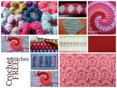 Interesting Crochet Stitches..... FREE PATTERNS