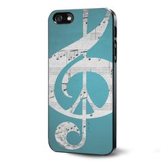 Aqua Music Notes Aqua Blue Turquoise Samsung Galaxy S3 S4 S5 Case Samsung Galaxy Note 3 Case iPhone 4 4S 5 5S 5C Case Ipod Touch 4 5 Case