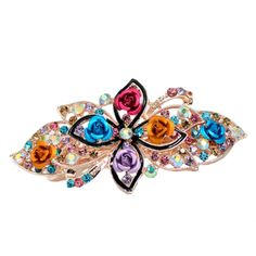 Fashion Rose Hair Accessories Bling Crystal Hair Decoration-Random Color A2 *** Want additional info? Click on the image.