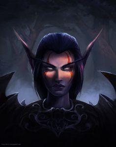 Night Elf warrior, defender of Ashenvale, Ivan Cirovic on ArtStation at https://www.artstation.com/artwork/BPVr