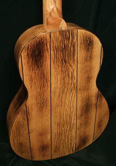 Fylde Ariel Single Malt Pallet Guitar - it's made from Reclaimed Whiskey Barrels
