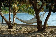 Yasawa Island, Fiji. There's just something irresistible about hammocks.