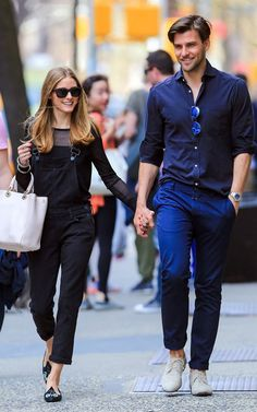 Even while out for a stroll in New York City's Greenwich Village, Palermo and Huebl outfits are on point.