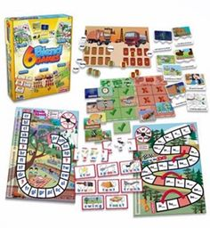 Make learning fun by making this versatile set of games part of play time. Ideal for use at home or with students, this set helps kids learn the basics of English. Age: 5 & Up Material: Plastic Eyes Game, Letter Games, Dragon Games, Word Puzzles, Game Guide, Carnival Games, Memory Games, Educational Games, Matching Games