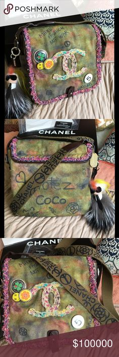 💋Chanel Graffiti💋 Authentic Chanel Graffiti Messenger Bag. Sharing! I sold mine to a good friend and missed her ever since. Couldn't help myself, lol. Would only sell for the right price! No trades! Charms not included in this sale! Chanel Bags Crossbody Bags