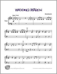 2752 best piano sheet music beginner and easy images on pinterest wedding march menndelssohn sheet music for piano digital print http fandeluxe Images