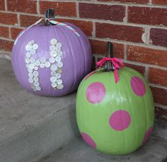 Painted pumpkins - The Potter & His Clay: Fall 2012