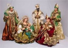Nativity Set with the Holy Family and Wisemen. Nativity Stable, Diy Nativity, Christmas Nativity Set, Christmas Villages, Christmas Home, Christmas Crafts, Christmas Decorations, Christmas Ornaments, Nativity Sets