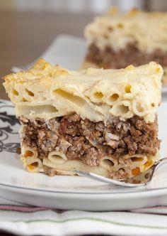 Pastitsio Greek Pasta Bake | Wishes and Dishes