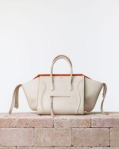 8477037ad533 Celine Luggage Phantom - Spring chalk calfskin leather
